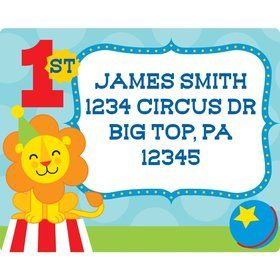 Circus Personalized Address Labels (Sheet of 15)
