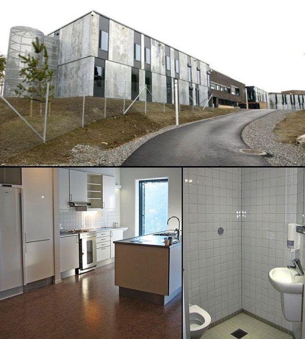 Halden Prison Norway Architecture Framed Bathroom Mirror Lighted Bathroom Mirror