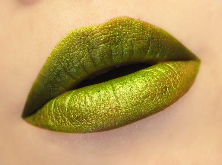 Creature - Semi Matte Bright Yellow Green Lipstick by BeautyUndead on Etsy https://www.etsy.com/listing/260726827/creature-semi-matte-bright-yellow-green