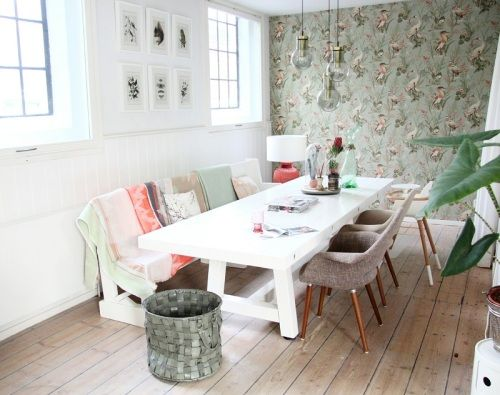 A dining room from Maaike's home tour on Design*Sponge