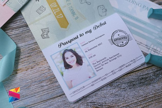 debut invitation 18th passport invitations