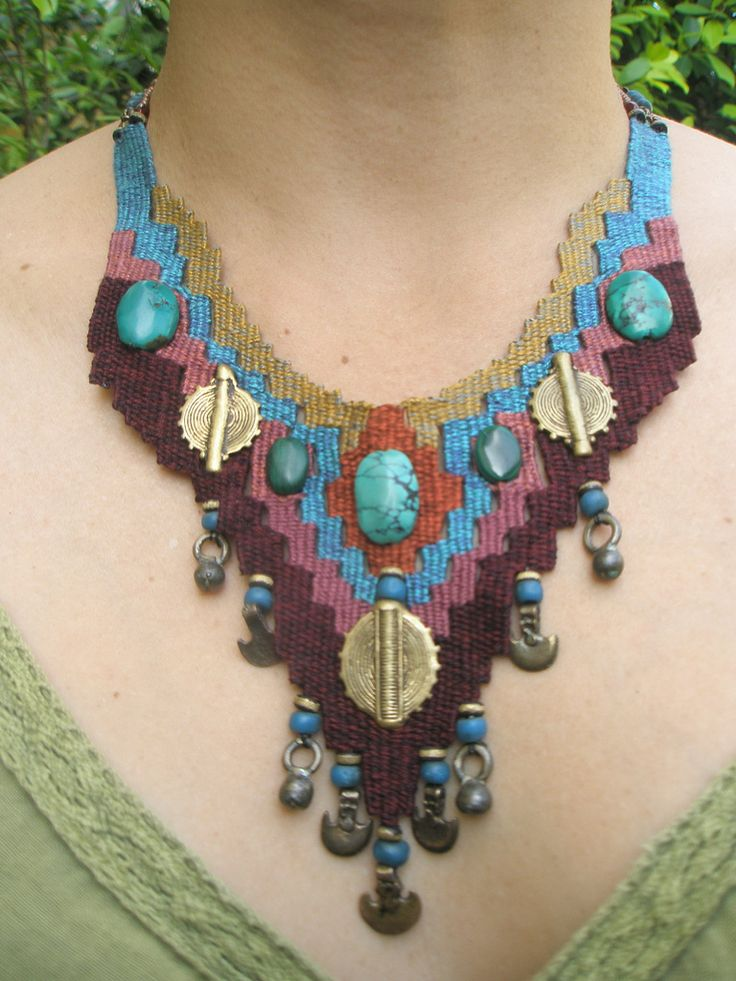 weaving with needle necklace   by AowDusdee