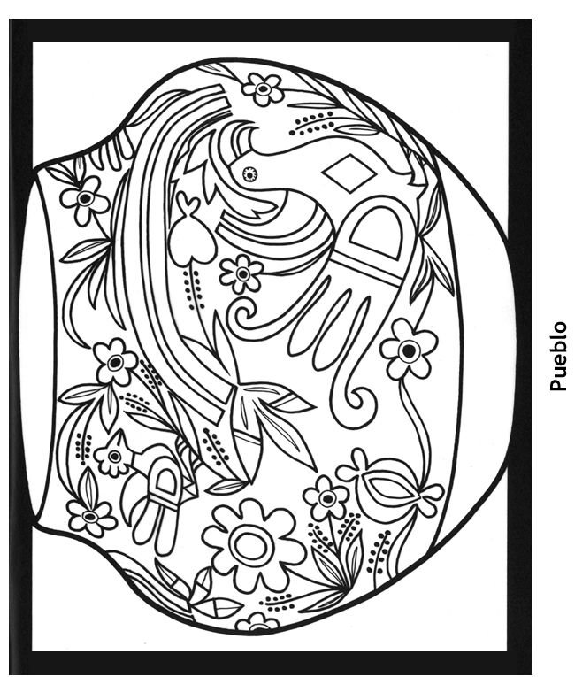 Southwestern Coloring Book Southwestern Adult Coloring Books ...