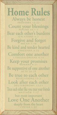 Biblical Home Rules