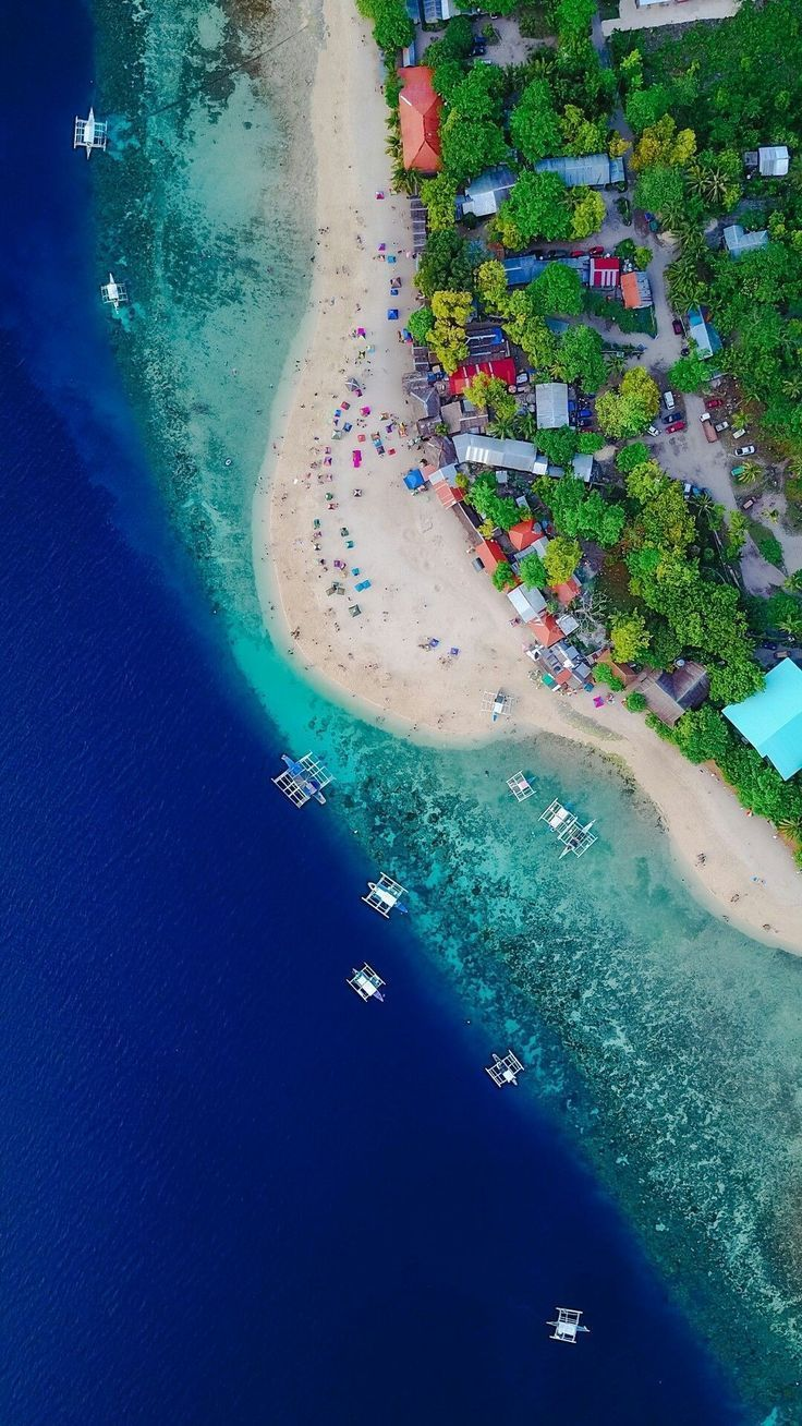 Aerial photography drone ocean blue