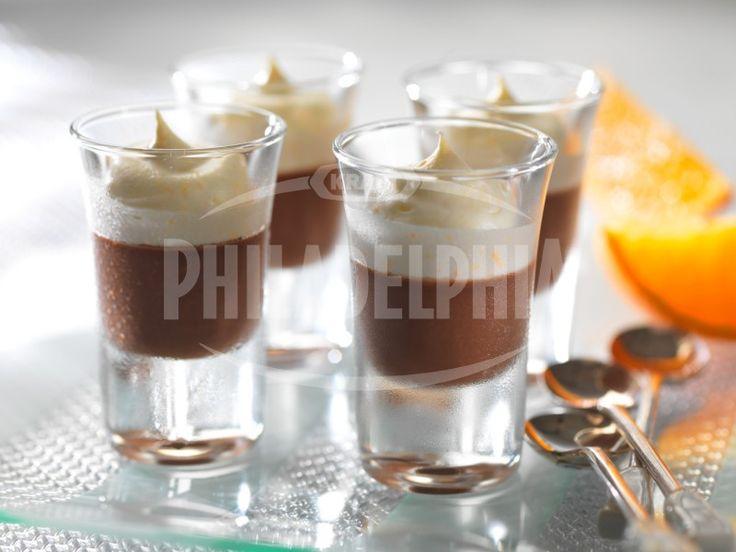 Čokoládový krém s čepicí z pomerančů - Dezerty - recepty - Sýr Philadelphia