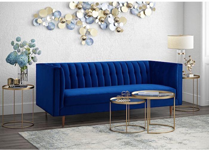 1001 Ideen Fur Moderne Und Stilvolle Deko Fur Wohnzimmer Deko Fur Wohnzimmer Graues Samtsofa Sofa Design