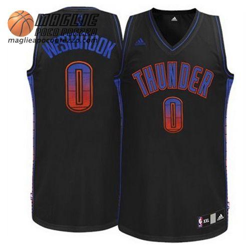 Canotte Nba Moda Vibe Swingman Westbrook #0 Nero Oklahoma City Thunder