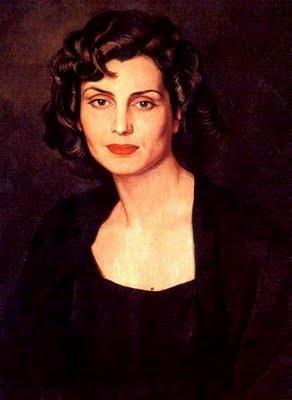 Painting of Amalia Rodrigues by Eduardo Malta.The princess of Fado music.