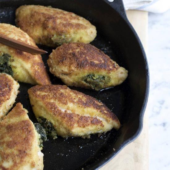Basil-Stuffed Chicken Breasts | Boneless, skinless chicken breasts get ...