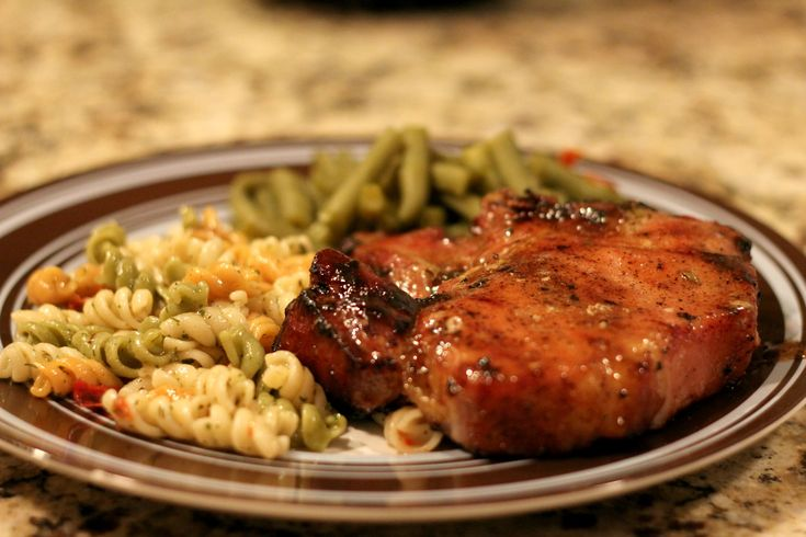 Honey Glazed Pork Chops - This the BEST way to grill pork chops!  This glaze is so savory and sweet, you will never use another marinade again.