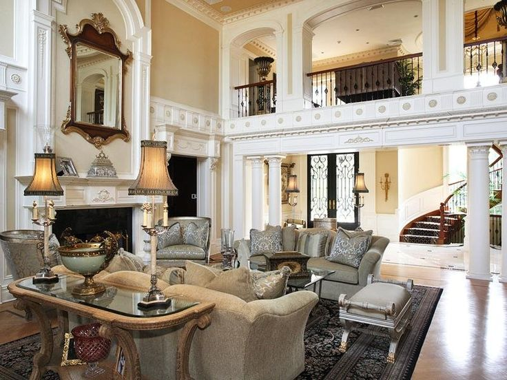 HOUSE OF THE DAY A 29 Million Mansion With Indoor And Outdoor Pools In Ber Wealthy Alpine NJ Living Room