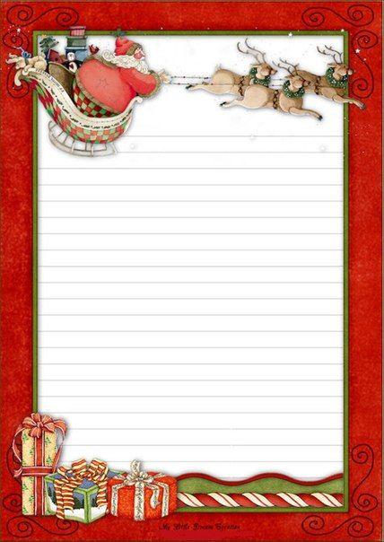 письмо деду морозу Briefvorlagen Briefpapier Weihnachten