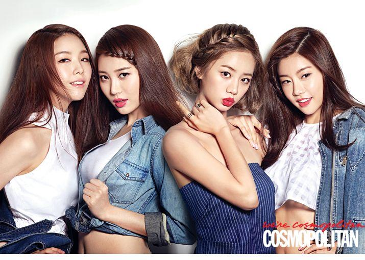 2014.05, Cosmopolitan, Girl's Day, Minah, Yura, Hyeri, Sojin