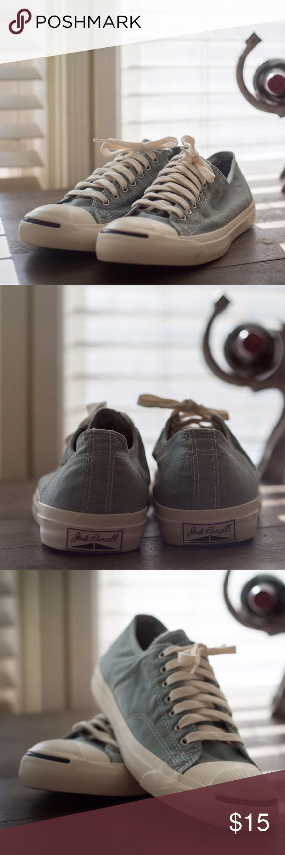 Converse Jack Purcell Low Top Baby Blue sz 10 Men Size 10-10.5 Men (they don't say on the shoe) Very clean, worn just a handful of times. Converse Shoes Sneakers