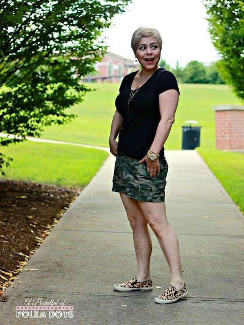 Leopard Slip Ons & Camo Shorts - A Pocketful of Polka Dots