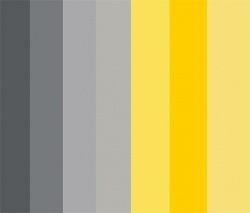 grey and yellow swatches