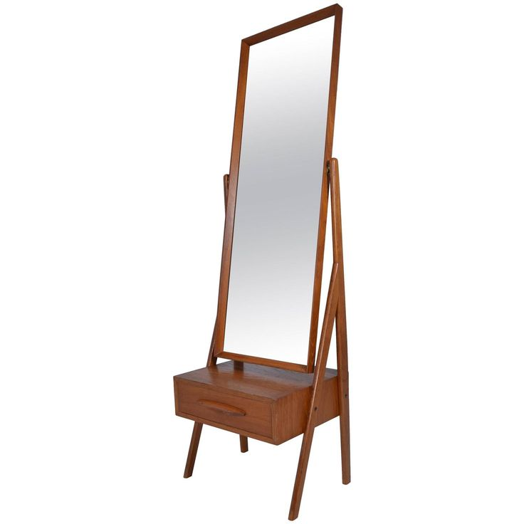 danish modern cheval mirror by arne vodder circa 1960s