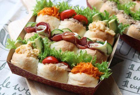 【持ち運びスクエア型で】運動会のお弁当は「ちぎりパンサンド」で盛り上がろう!