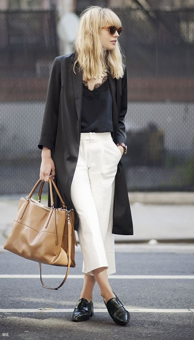 Two favourites staples for Spring/Summer 2015 - culottes and dusters. Clean and simple