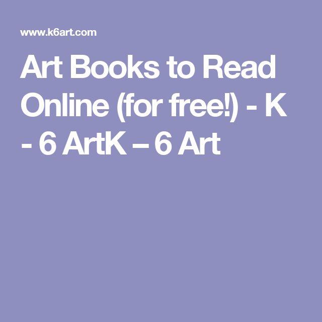 Art Books to Read Online (for free!) - K - 6 ArtK – 6 Art