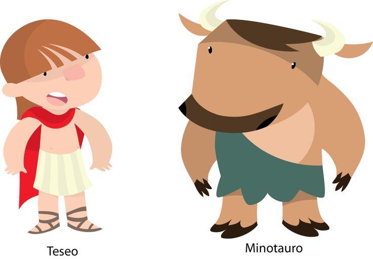 Teseo y minotauro. Colección pequeños heroes.