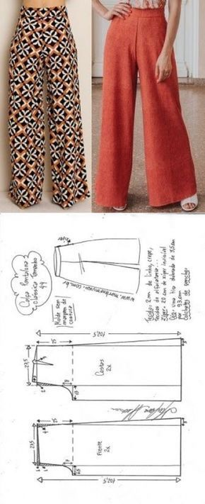 Calça pantalona clássica | DIY – molde, corte e costura – Marlene Mukai | Дл…