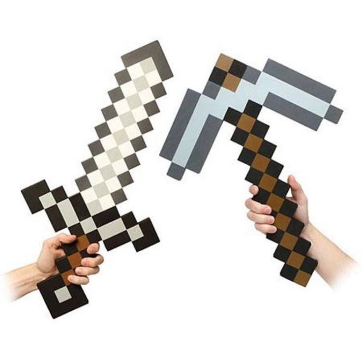 Cosplay Minecraft Espada Cinza 63cm | Geek Magazine.com.br