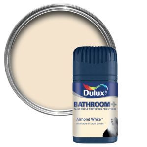 Dulux Bathroom Almond White Soft Sheen Emulsion Dulux Bathroom Almond White Soft Sheen Emulsion Paint 50ml Tester Pot.This Almond white Bathroom emulsion paint has been specially designed to give a stunning finish to your bathrooms. Simply apply ea http://www.MightGet.com/april-2017-1/dulux-bathroom-almond-white-soft-sheen-emulsion.asp