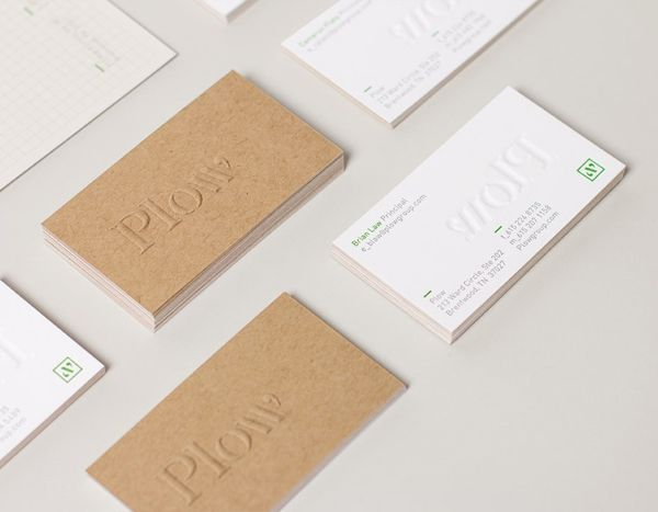 Logo And Blind Embossed Duplex Business Card By Perky Bros For Customer Acquisition Service Telecom