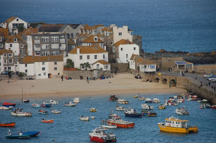 St Ives Harbour and Smeaton's Pier, Cornwall