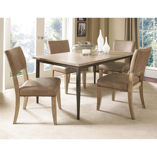 Charleston Desert Tan Rectangle Dining Set W/ Parson Chairs Hillsdale Furniture Dining Set