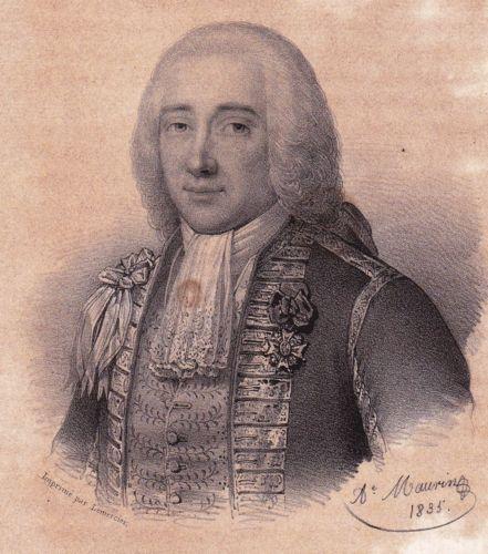 Lithographie-XIXe-Claude-de-Forbin-Comte-de-Gardane-Marine-Royale-1835