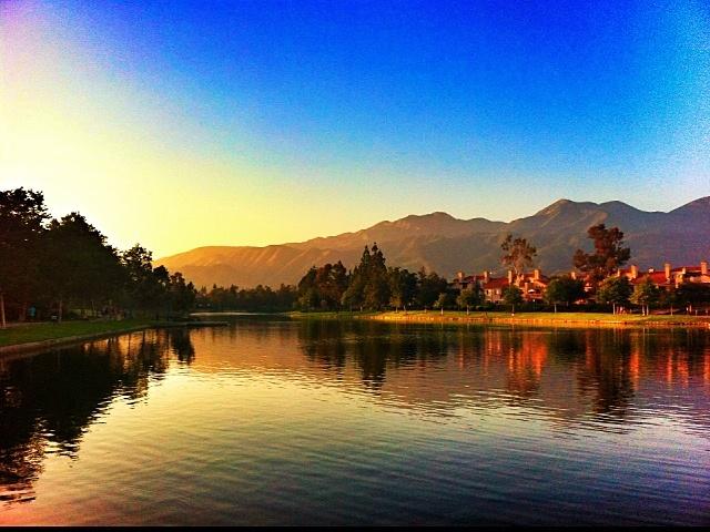 RSM Lake at sunset - Rancho Santa Margarita, California.