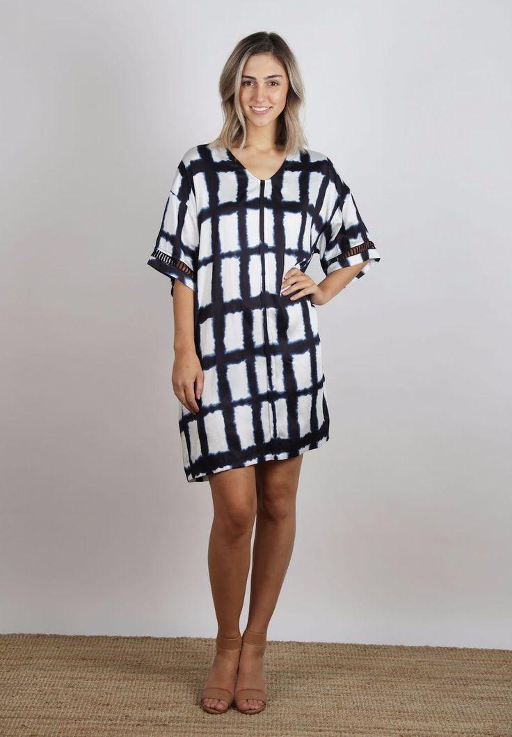 Ellis & Dewey - Painted Check Woven Dress