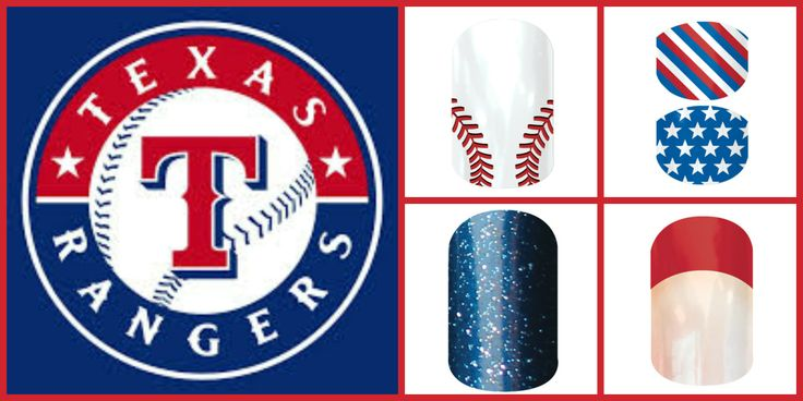 For all of my Texas Ranger fans out there!! Check out our Jamberry wraps to get in the spirit of baseball season!  www.brodgers.jamberrynails.net