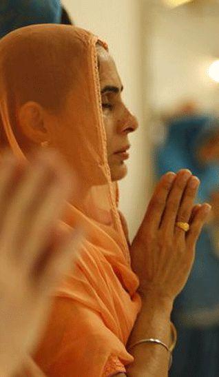 Sikh Woman Praying Rangla PUNJAB India