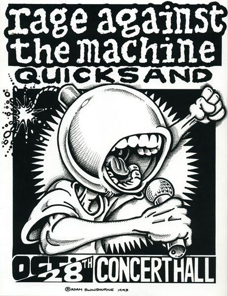 Rage Against The Machine & Quicksand. http://www.pinterest.com/TheHitman14/music-poster-art-%2B/