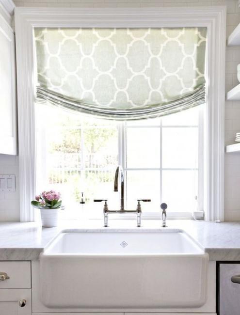 17 best ideas about modern kitchen curtains on pinterest for Contemporary kitchen window treatment ideas
