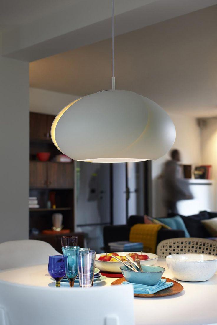 Hanglamp Tulip - wit - 1x e27 105w - kunststof - Philips koopt u bij LiL.nl. ✓ Avond- en zondaglevering  ✓ Voor 23:00 besteld, morgen in huis ✓ Gratis verzending vanaf €20.