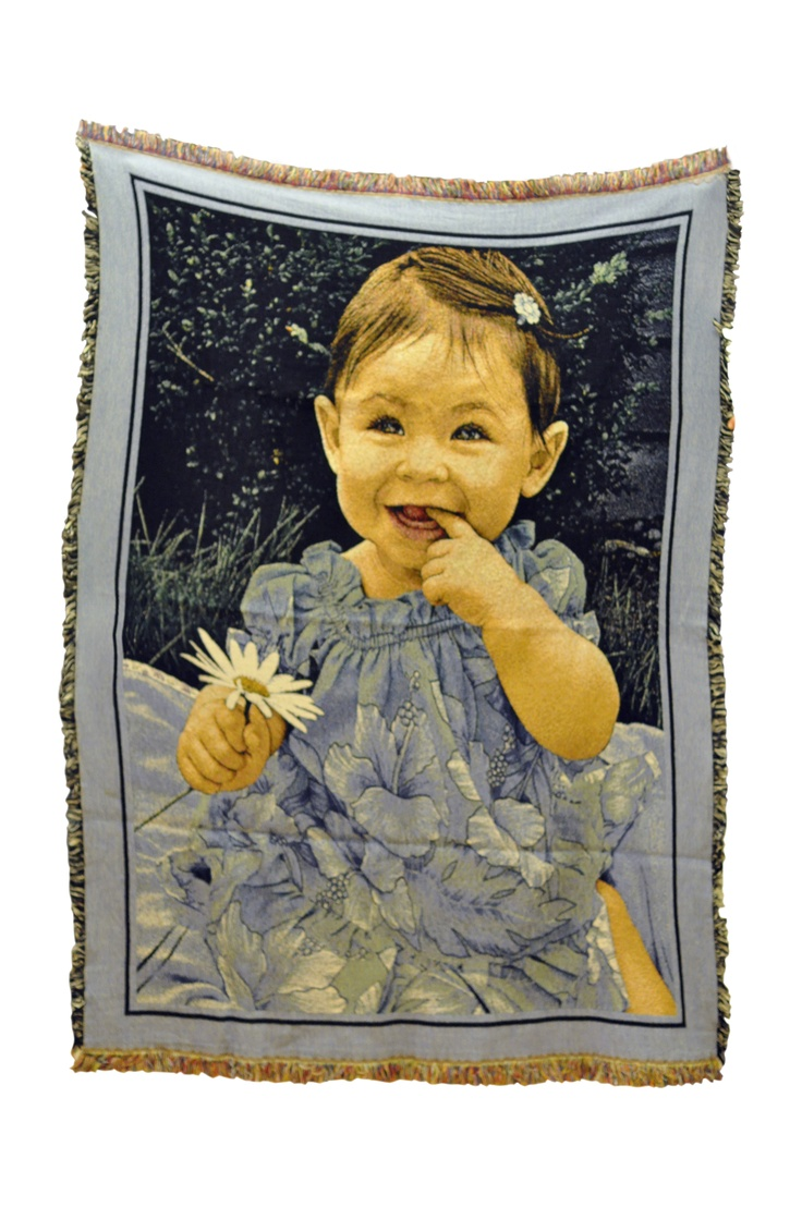 Baby Photo blankets.  Give the gift of love and memories for Mom, Dad, or Grandparents. Personalized woven photo blankets for all occasions.
