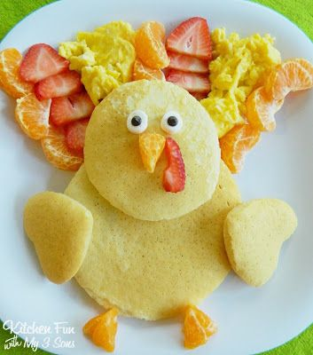 Thanksgiving Turkey Pancakes for Breakfast - how cute is this!
