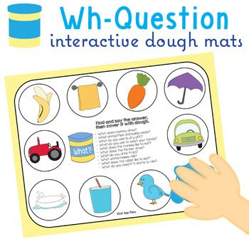 Wh-Question Dough Mats (speech therapy, special education, prek)