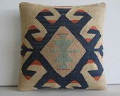 DECORATIVE PILLOW Decorative Throw Pillow Kilim Pillow Cover Turkish Cushion Case southwest eclectic outdoor sofa boho decor Norwalk cream