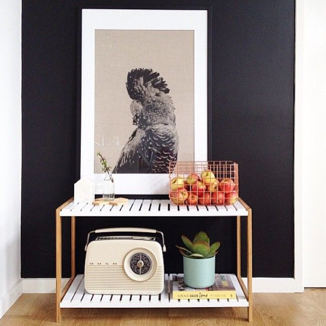 Make a bold statement with a large print on a Mocka Jimmy Stand. Styling by Clareb8.