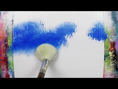 Simple landscape painting / 151 / Relaxing / Satisfying / Abstract painting / Demonstration – YouTube