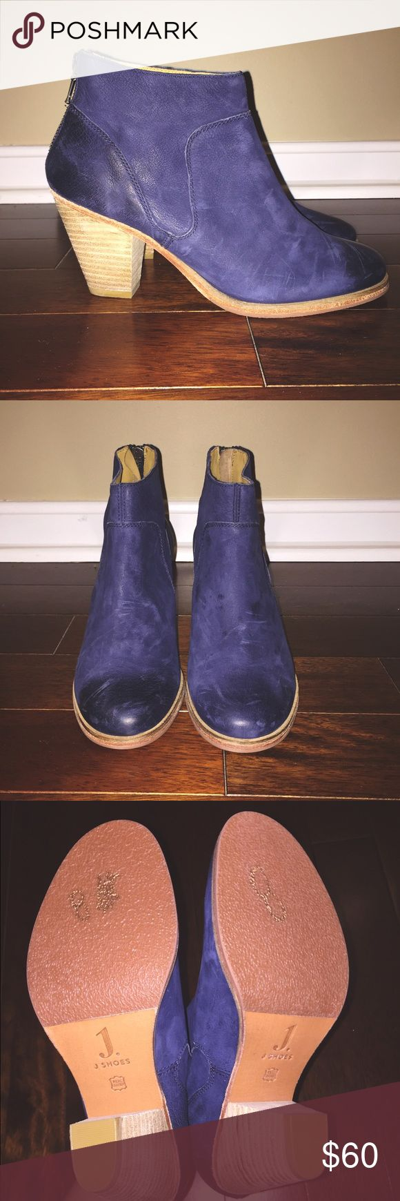 JSHOES Navy Heeled Bootie JSHOES Navy Heeled Bootie Never Worn Great Condition Size 8 Price Negotiable Reasonable Offers Only JSHOES Shoes Ankle Boots & Booties