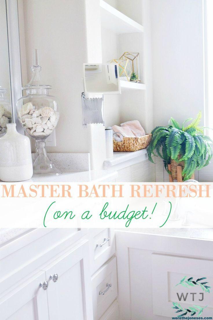 Beautiful Master Bathroom Refresh On A Budget Master Bathroom