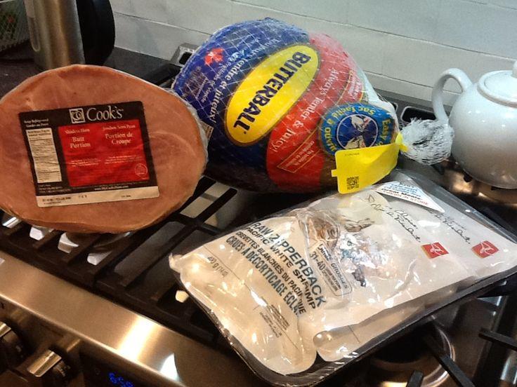 Oct 6/17 Brian cleans up for Thanksgiving.  Turkey, ham, shrimp. I'm thankful!