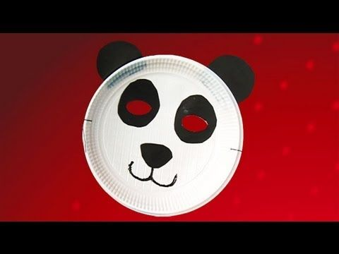 Panda mask crafts. Ideas to fancy dress custome for kids